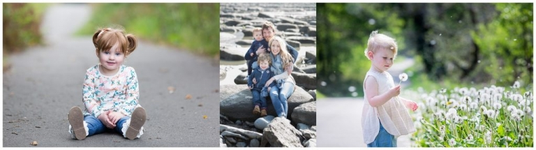 Toddlers enjoying family photoshoot in parkladns and on the beach
