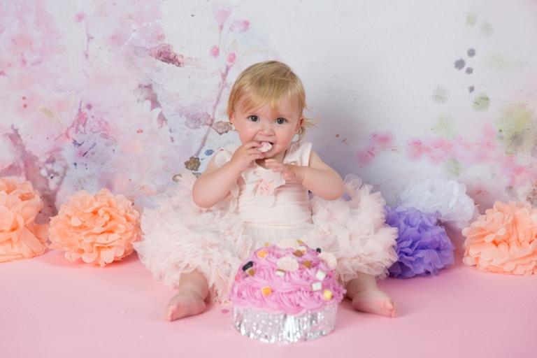 Cake Smash First Birthday Photography In Pontypridd Near Cardiff