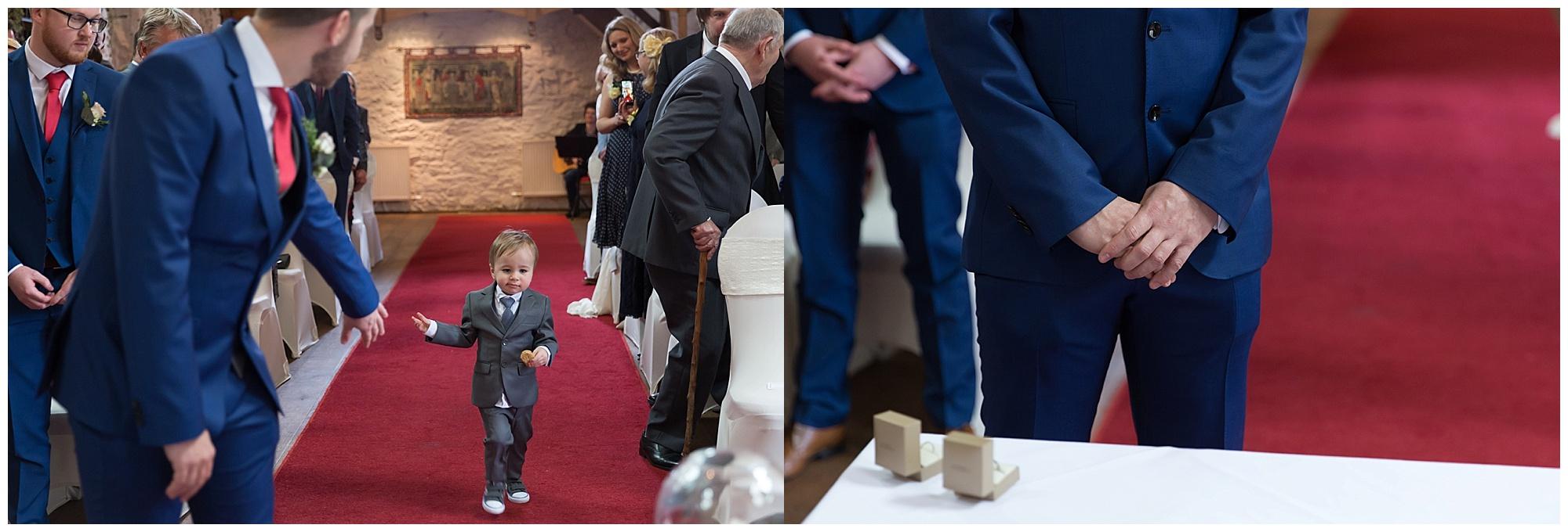 pageboy at a wedding